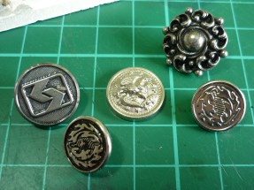 Breastcollar centres from Mum's button box - everyone has a button box
