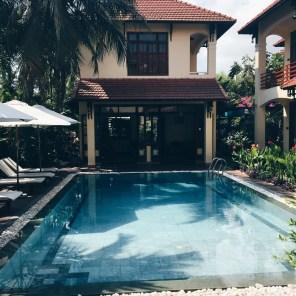 Early morning swim The Earth Villa