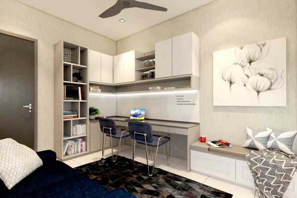 03 Study Room - Bookcase & Bench Rev3