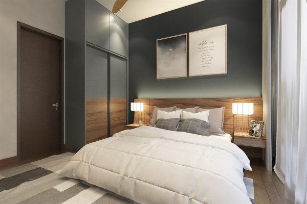 Bedroom 1 - Headboard & Wardrobe View 1