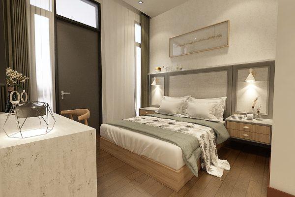 Bedroom 2 - Headboard & Study Table View 1