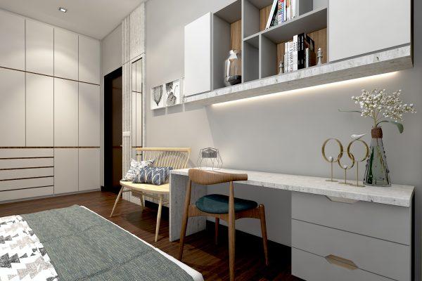Bedroom 2 - Wardrobe & Study Table View 2
