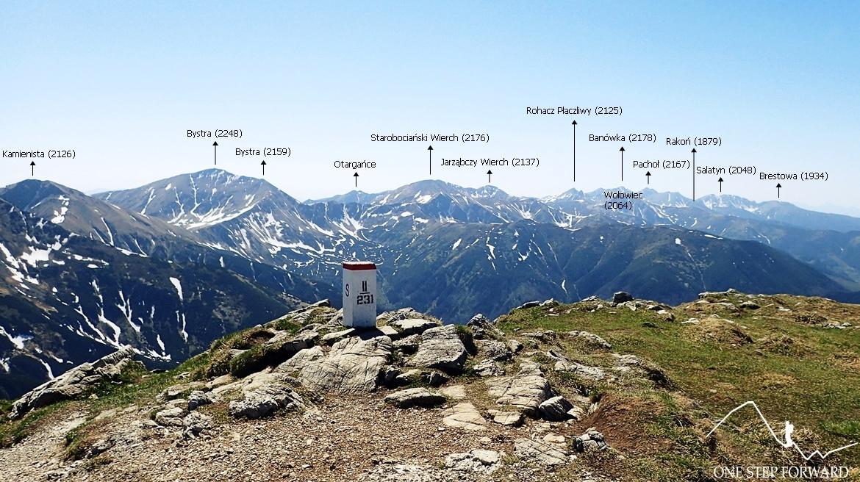 Panorama z Ciemniaka na Tatry Zachodnie