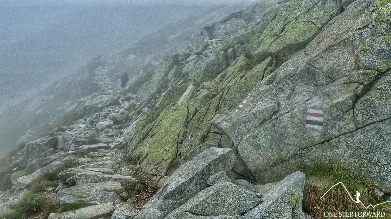 Szlak z Doliny Pięciu Stawów na Kozi Wierch - kolejny trawers