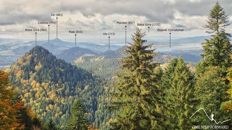 Panorama na pozostałą część Pienin