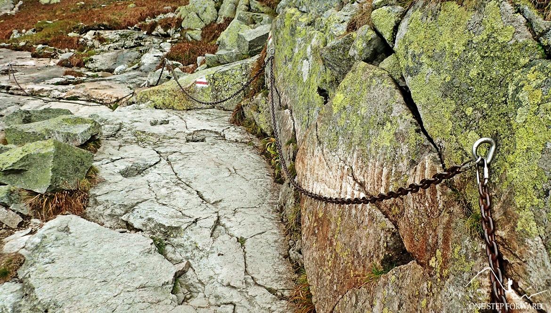 Łańcuchy w Żlebie Blatona