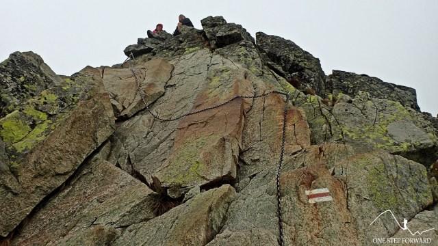 Świnica - odcinek graniowym przed samym szczytem