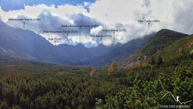 Orla Perć - widok z Doliny Pańszczycy