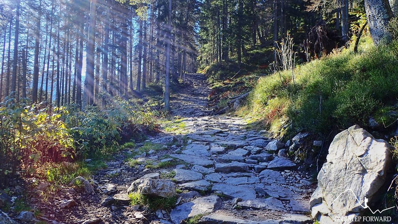 W drodze na Grzesia w Tatrach Zachodniach