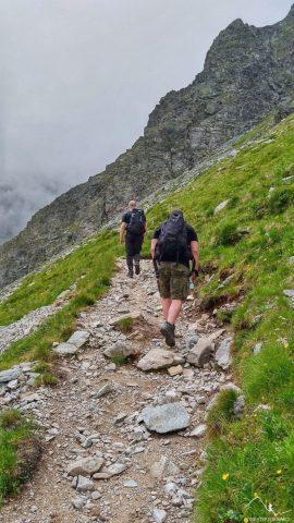 Podejście na Wyżnią Koprową Przełęcz