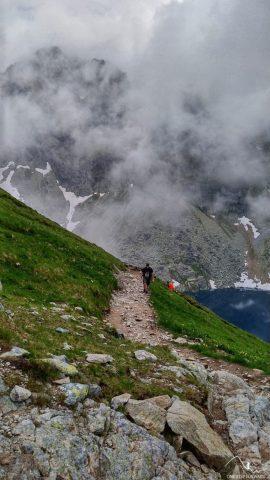 Podejście na Wyżnią Koprową Przełęcz - widok na Mięguszowieckie Szczyty
