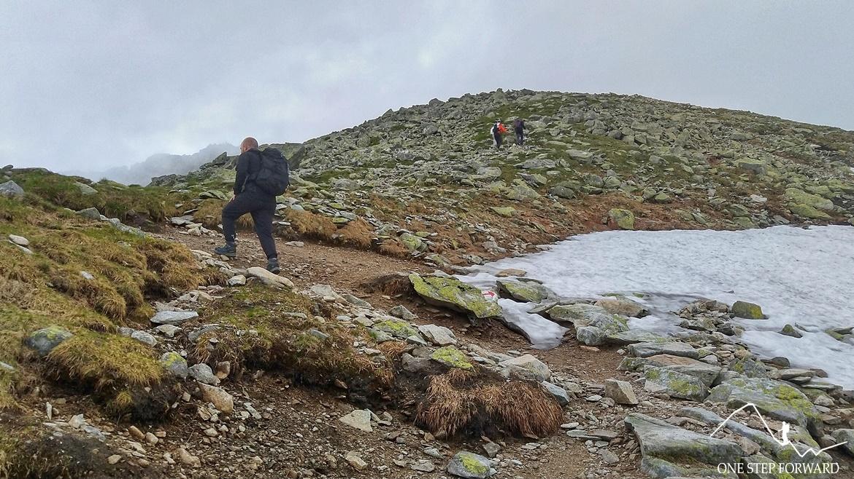 Kamieniste zbocze prowadzące na szczyt Koprowego Wierchu (Kôprovský štǐt )