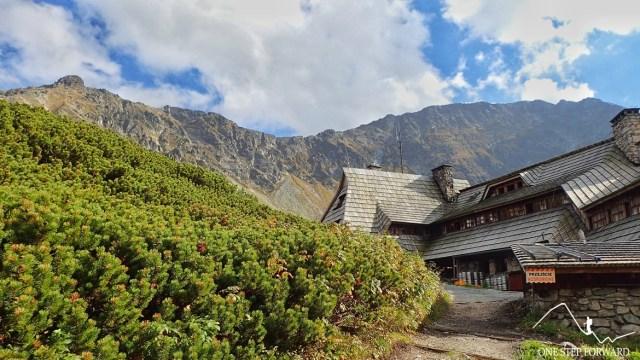 Widok na Miedziane i Opalony Wierch - Dolina Pięciu Stawów