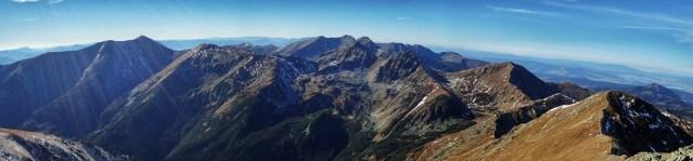 Raczkowa Czuba - panorama ze szczytu na Tatry Zachodnie