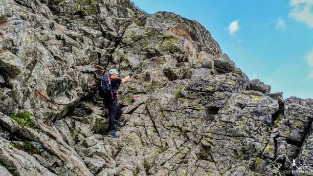 Wejście na grzędę - szlak na Rysy z Palenicy Białczańskiej