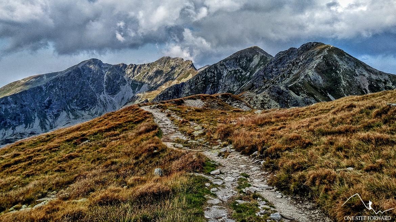 W stronę Smutnej Przełęczy - widok na Jałowiecki Przysłop, Banówke i Hrubą Kopę