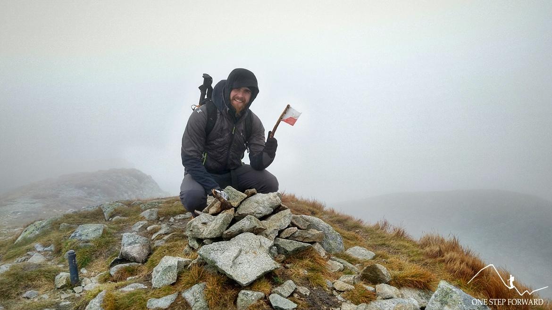Na szczycie Salatyńskiego Wierchu (2048 m n.p.m.) w Tatrach Zachodnich