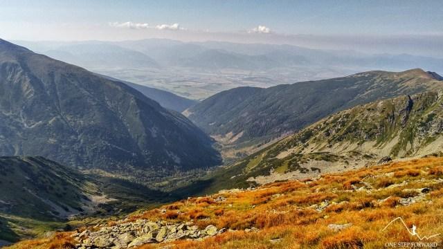 Dolina Żarska - widok z podejścia na Trzy Kopy