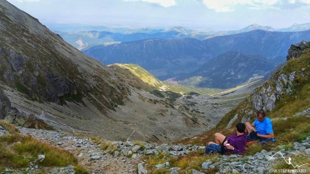Banikowska Przełęcz - widok na Dolinę Spaloną