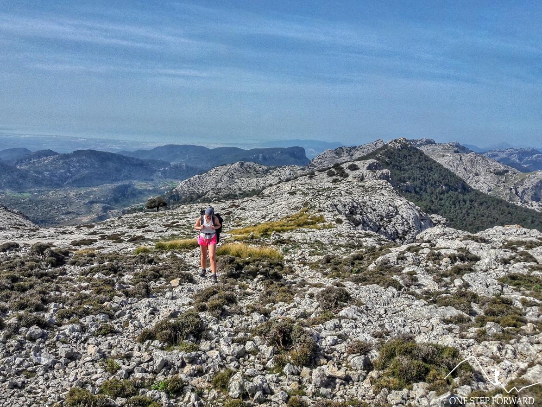Ostatnie metry do szczytu Sa Rateta - Ruta de Tres Miles, Majorka