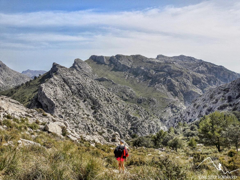 Zejście z Sa Rateta nad jezioro Cuber - Ruta de Tres Miles, Majorka