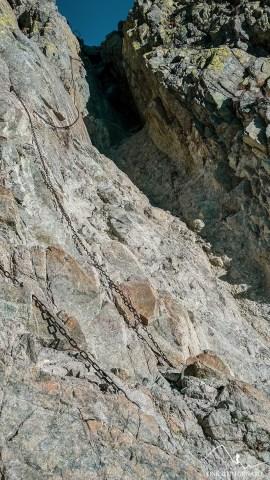 Łańcuchy - niebieski szlak na Rohatkęac