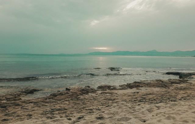 Playa de Palma o zachodzie słońca - El Arenal, Majorka