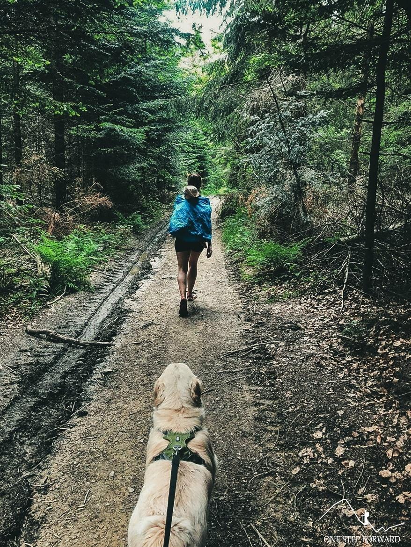 Lubomir z psem - zejście ze szczytu