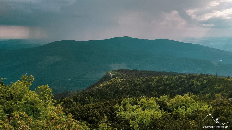Widok na Sokolicę - szlak na Babią Górę