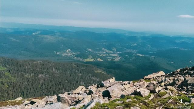 Babia Góra - widok w kierunku Zawoi