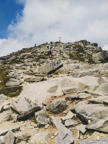 Skrajne Solisko - ostatnie metry przed szczytem