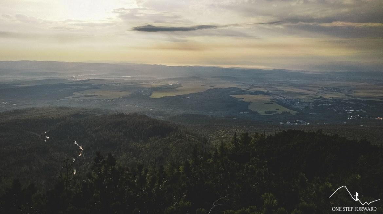 Widok z Maksymilianki na Poprad, Niżne Tatry oraz Stary Smokowiec