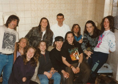 Backstage at The Marquee with The Beyond and touring crew