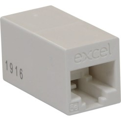 Excel Category 5e RJ45-RJ45 In-line connector - White
