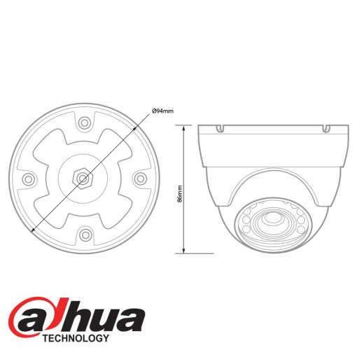 Dahua HDCVI 1080p IR Mini Dome