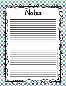 Notes 2 Cool