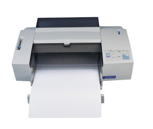 Computer Printer with Paper