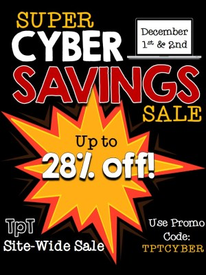 TpT Cyber Savings Sale