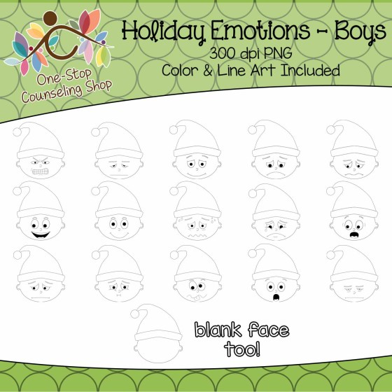 Holiday Emotion Clipart