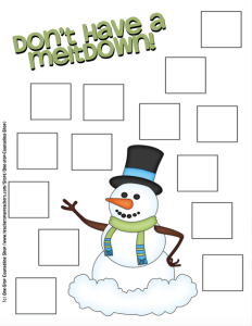 Snowman Coping Skill Activity