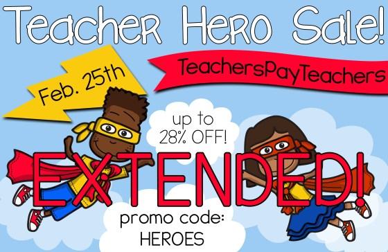 Teacher Hero Sale