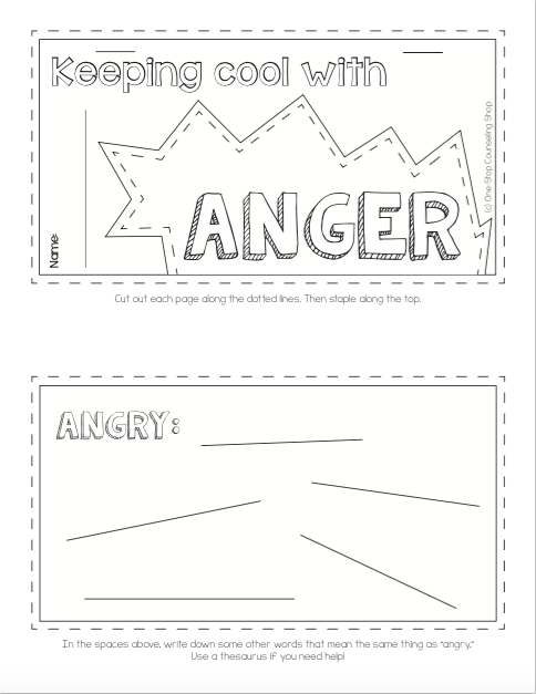 Anger Tab Book