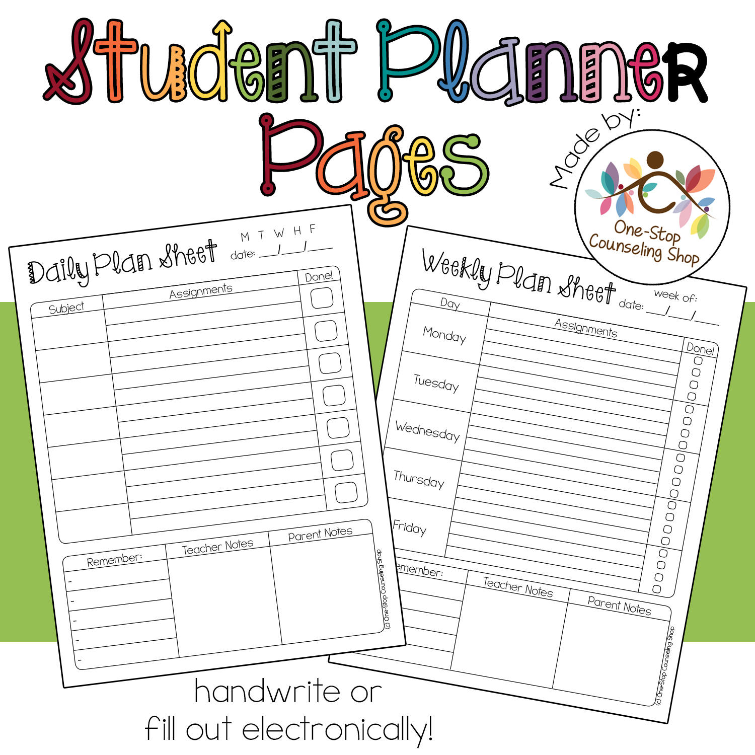 picture relating to Student Planner Printables called College student Planner Webpages