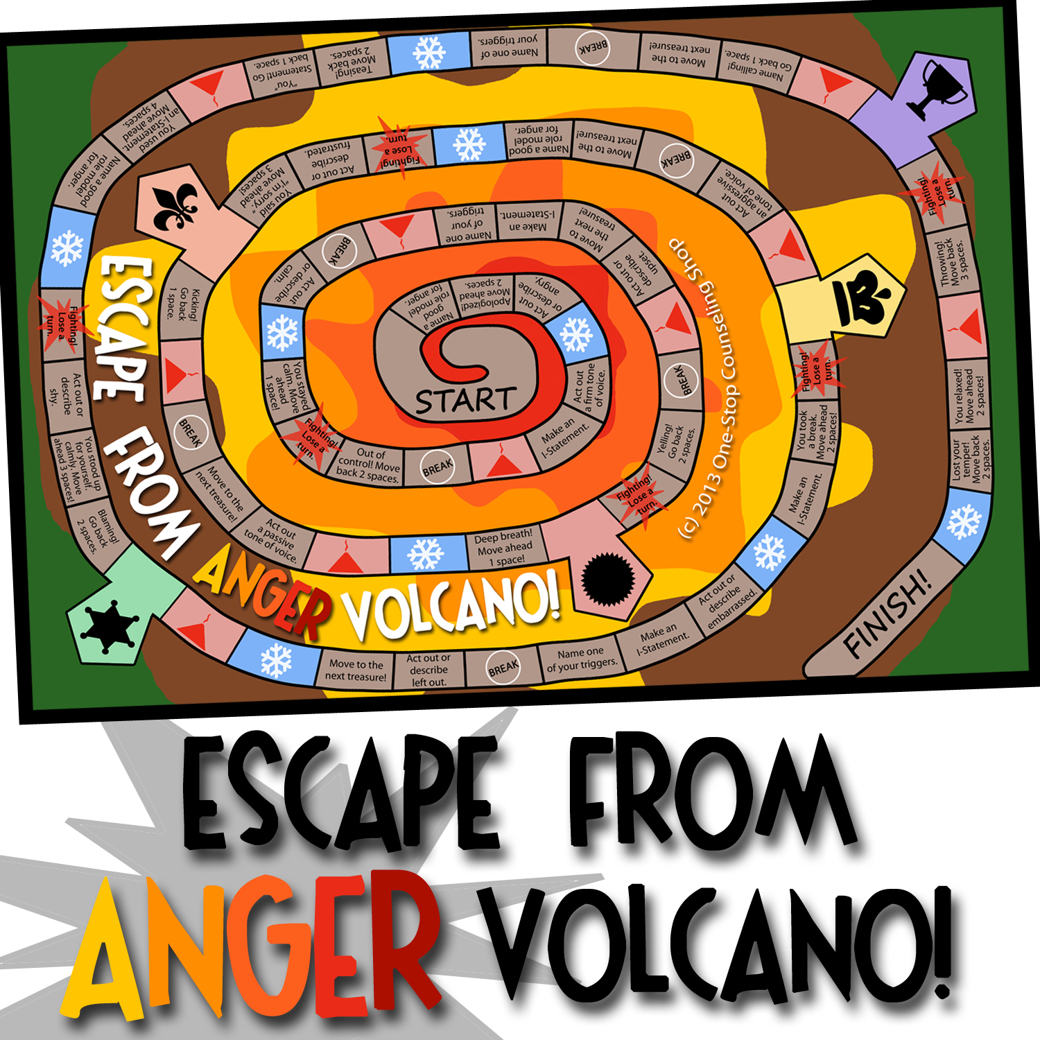 New Product Escape From Anger Volcano Game
