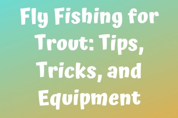 Fly Fishing for Trout: Tips, Tricks, and Equipment