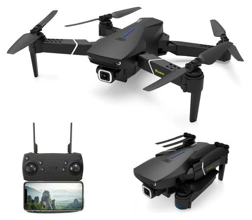 Drone with controller and camera view