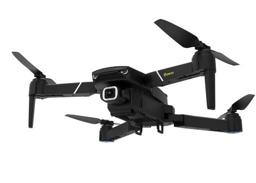 Front View of Foldable RC Drone Quadcopter flying