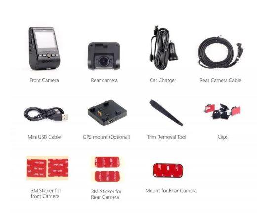 All attachments that come with the Viofo 129 Car Dash Camera