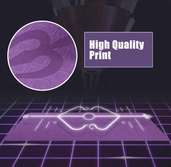 High quality yoga mat in purple