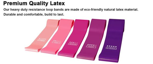 Latex premium quality resistance bands view